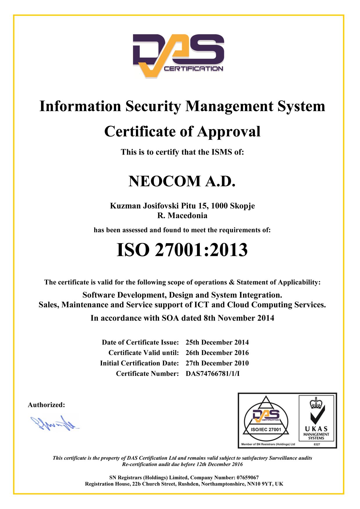 certifications memberships neocloud